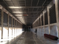 The hall inside the mosque