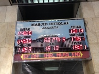 Board showing time of praying