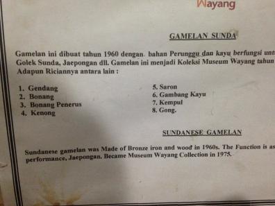 List of musical instruments for Gamelan