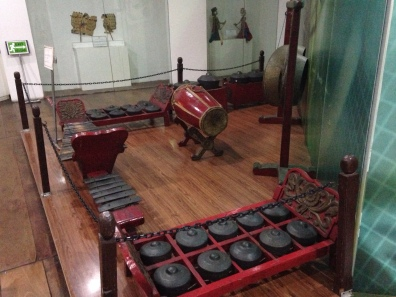 Traditional musical instruments that make a traditional orchestra called Gamelan