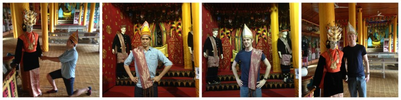 Shouta and Tim posing as the king from West Sumatra