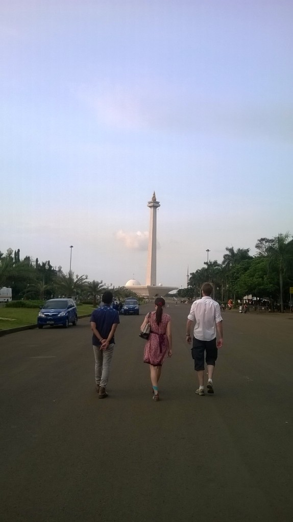 A quick stop at the National Monument in Jakarta