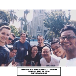 A selfie! In front of the Jakarta Cathedral or the Church of our Lady Asumption.