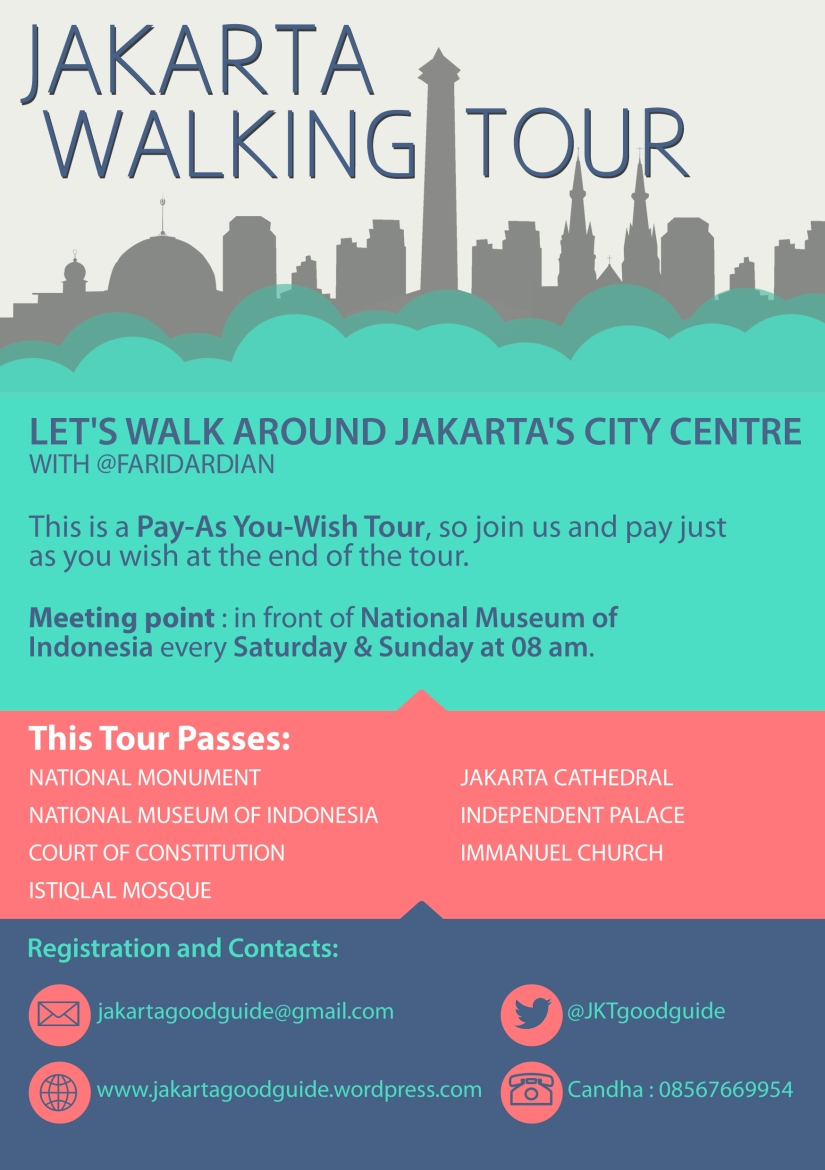 Jakarta Good Guide presents Jakarta Walking Tour - City Centre. Register yourself to take a walk around the National Monument and see some most famous landmarks of Jakarta!