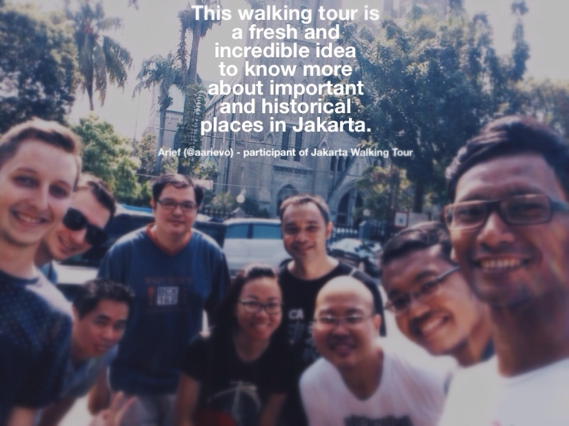 Arief joined our Jakarta Walking Tour on Sunday, Sept 14th 2014.