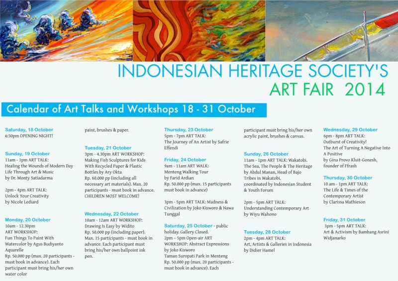 Menteng Walking Tour takes place on Friday, 24th October 2014 at 9am.