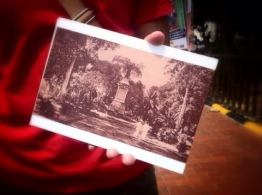 Pictures help Farid explaining Jakarta in the old days. This is a Wilhelmina park now turned to be Istiqlal Mosque.