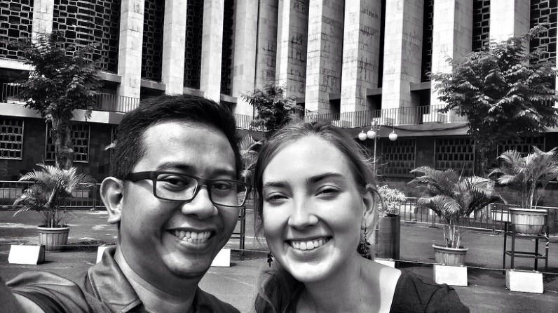 After a little explanation about the Istiqlal Mosque, a selfie must be done!