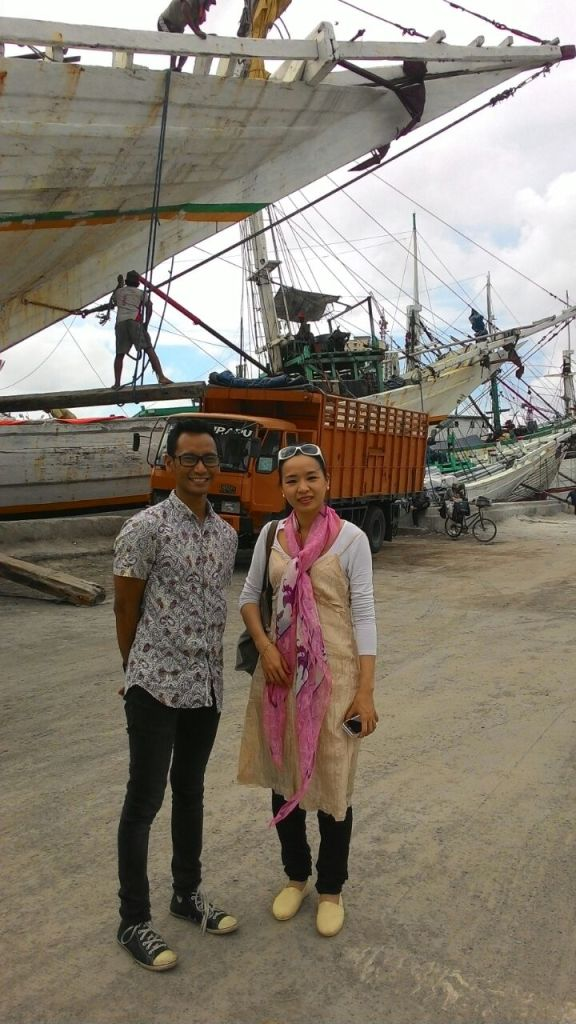 One of our spots in Jakarta Private Tour with Catherine (and her parents), Sunda Kelapa Old Port.