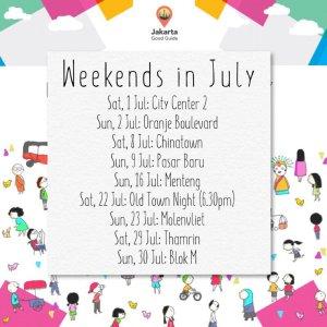 Weekends in July