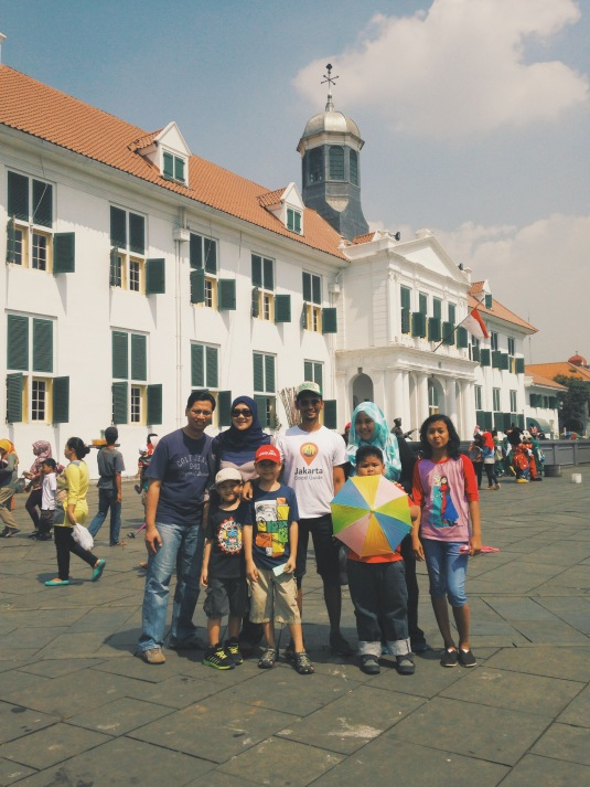 Yes! Our walking tour suits family as well. Look at them, learning the history of Jakarta while walking. It was indeed FUN!