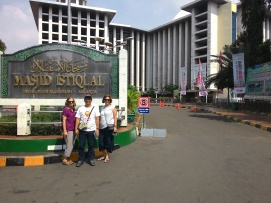 A must picture in front of the biggest mosque in South East Asia. Join us, and go inside this magnificent building