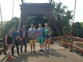 left to right: Naomi (Australia), Paul & Tanad (Indonesia), Callum (Australia), Martijn & Anouk (Netherland) on the Diamond Bridge.