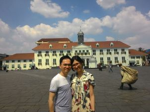 In front of Jakarta History Museum