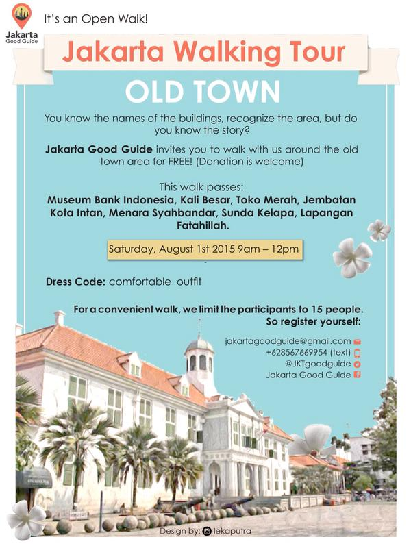 It's an open walk for Old Town route. Saturday, 1st August 2015 at 9am.