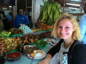 One of the perks of a walking tour is...tasting local foods!