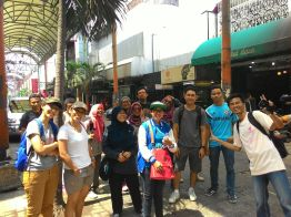 In the middle of Pasar Baru alley.