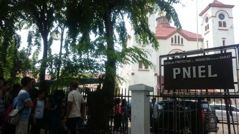 "The old church buikt in 1913, it's also known as ""Gereja Ayam""."