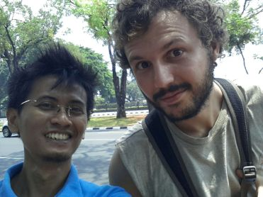 Ben from France with one of our guides, Huans.
