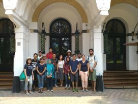Group 3 in front of Kunstkring, the art gallery and restaurant in Menteng.