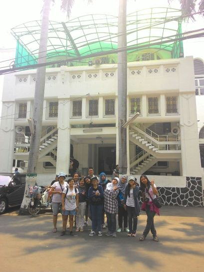 Group 4 in front of Cut Meutia Mosque.